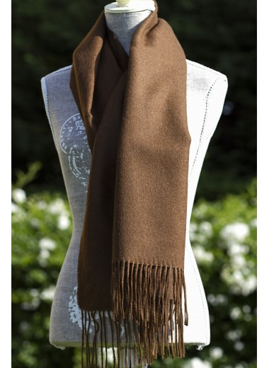 Scarf Plain Chocolate Brown
