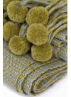 SCARF GREEN WITH TASSELS 100% BABY ALPACA