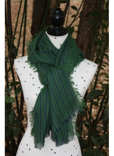 Two-Tone Green and Blue Pashmina