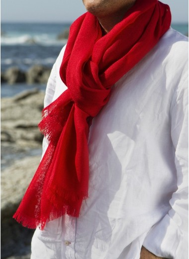 Solid Red Pashmina SOLD OUT